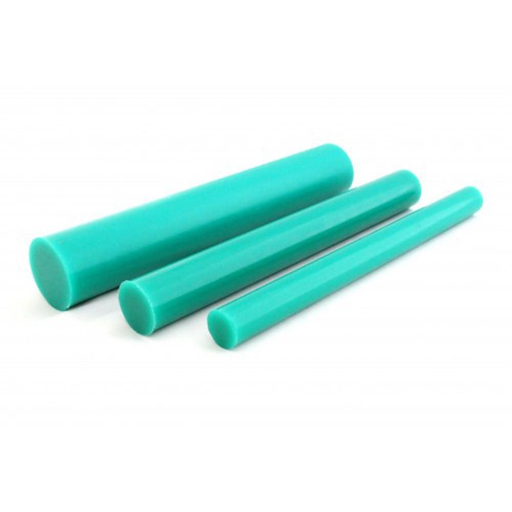 Tarugo Poliuretano Verde 80/85 SH A 15x300mm