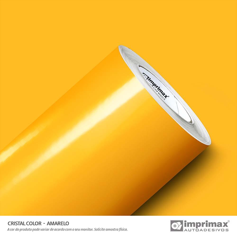 Vinil Auto Adesivo Color Cristal Color Amarelo 1,22x50m