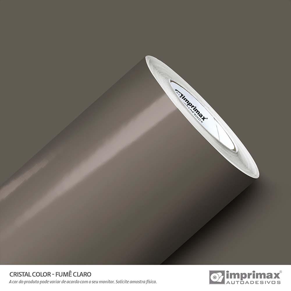 Vinil Auto Adesivo Color Cristal Fumê Claro 1,22x50m