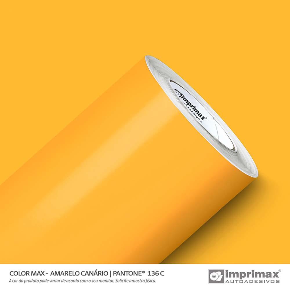 Vinil Auto Adesivo Color Max Amarelo Canário Brilho 1,22x50m