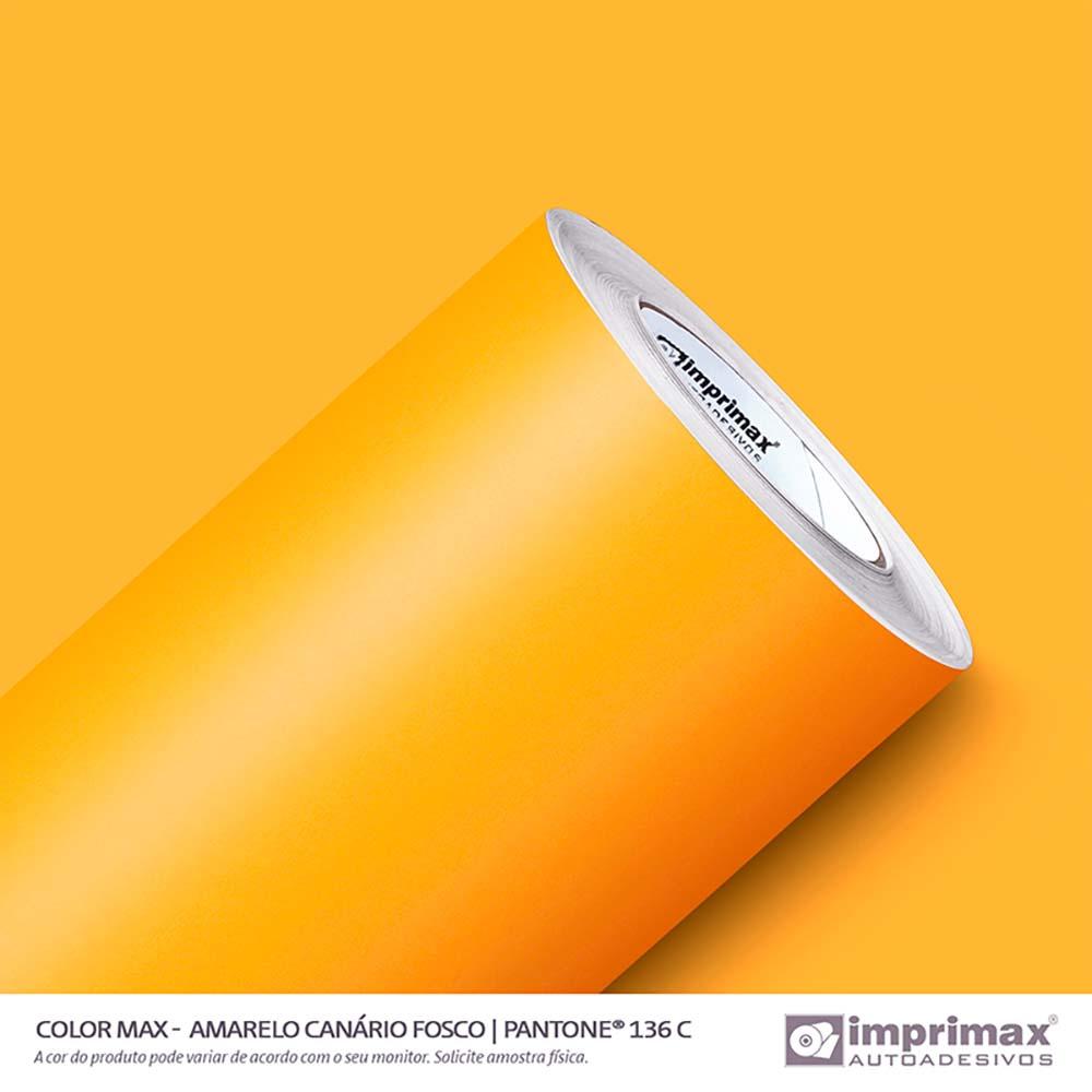 Vinil Auto Adesivo Color Max Amarelo Canário Fosco 1,22x50m