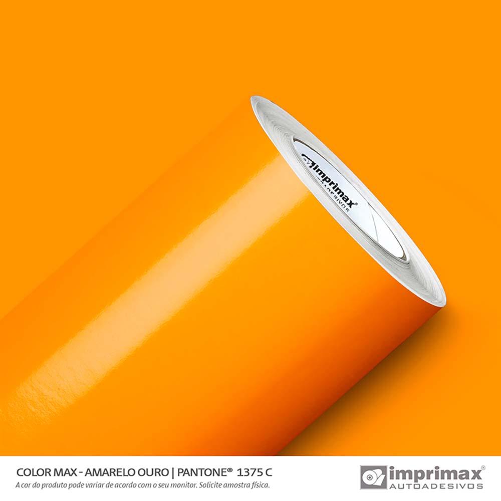Vinil Auto Adesivo Color Max Amarelo Ouro Brilho 1,22x50m