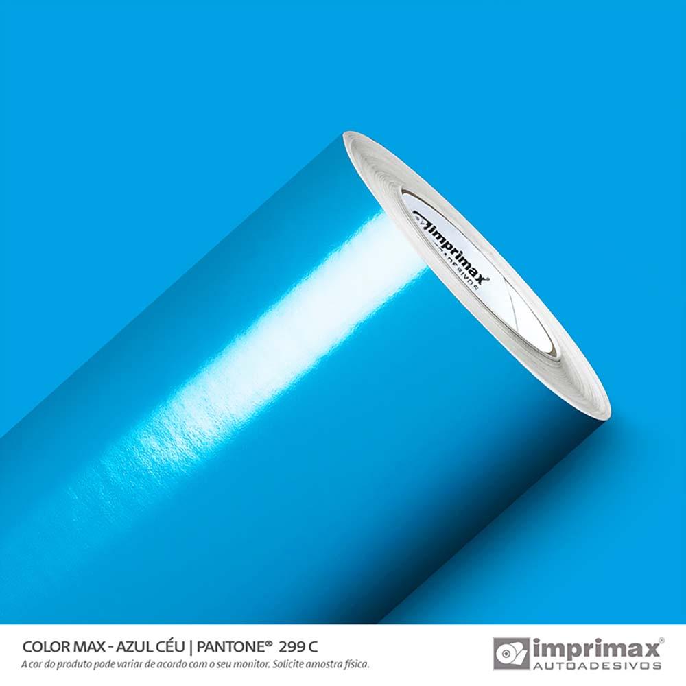 Vinil Auto Adesivo Color Max Azul Céu Brilho 1,22x50m