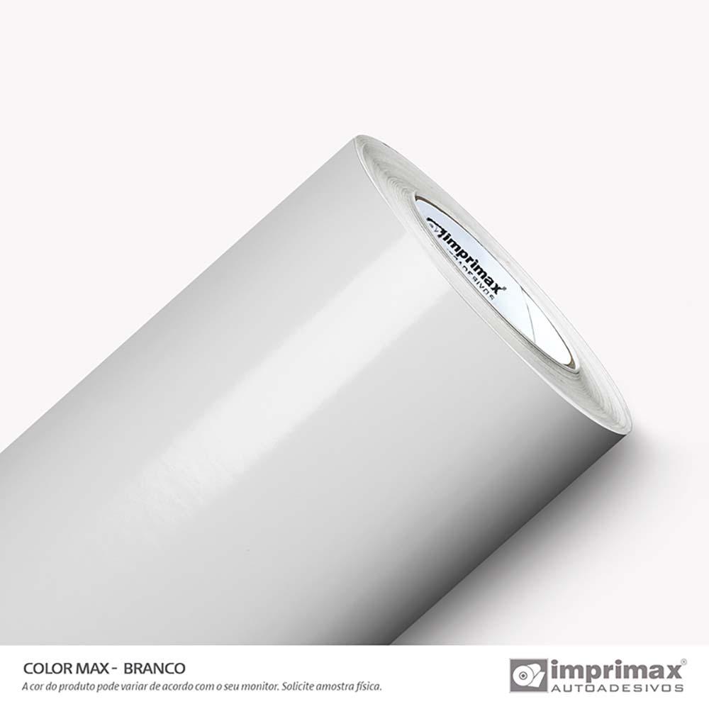 Vinil Auto Adesivo Color Max Branco Brilho 1,22x50m