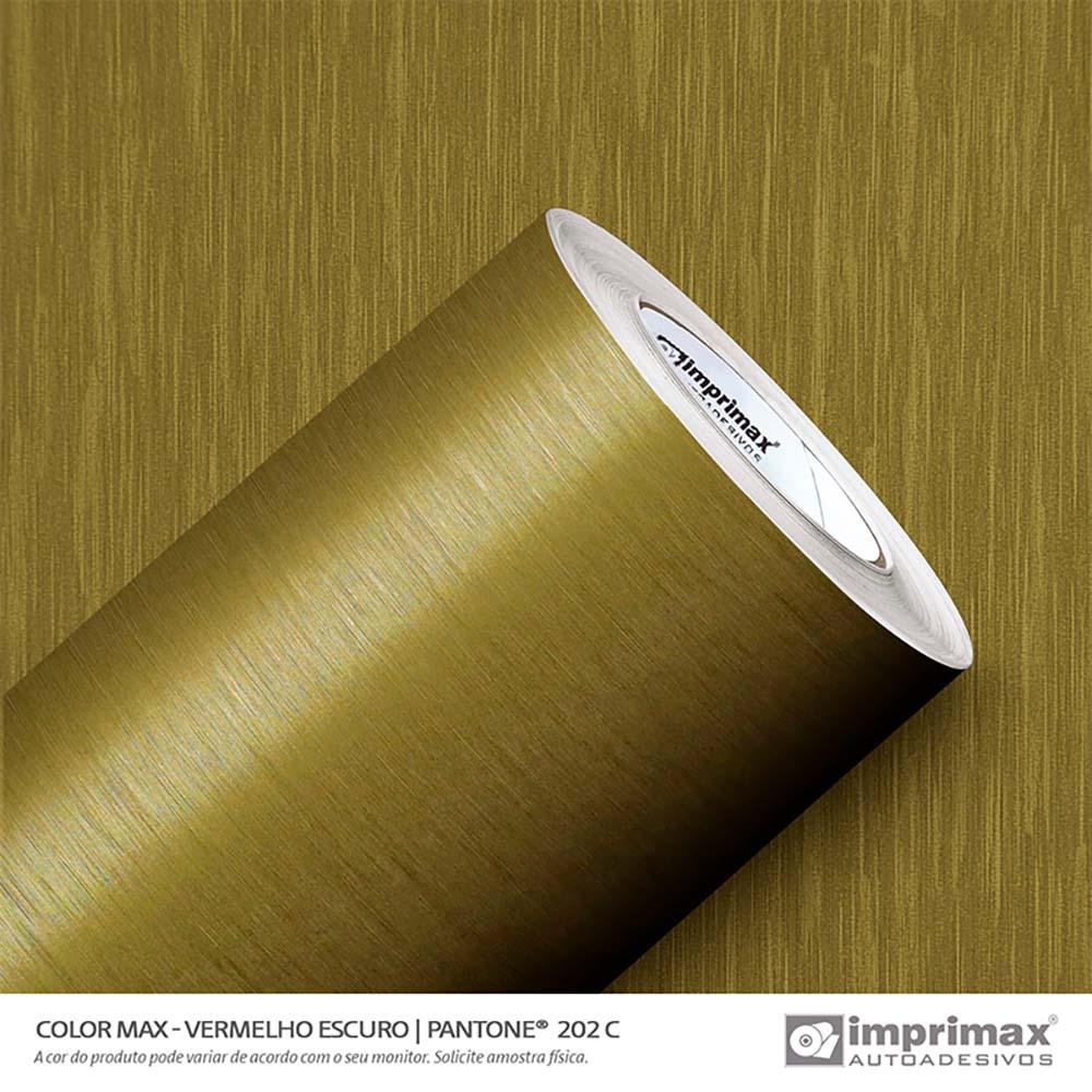 Vinil Auto Adesivo Color Max Ouro Escovado 1,22x50m