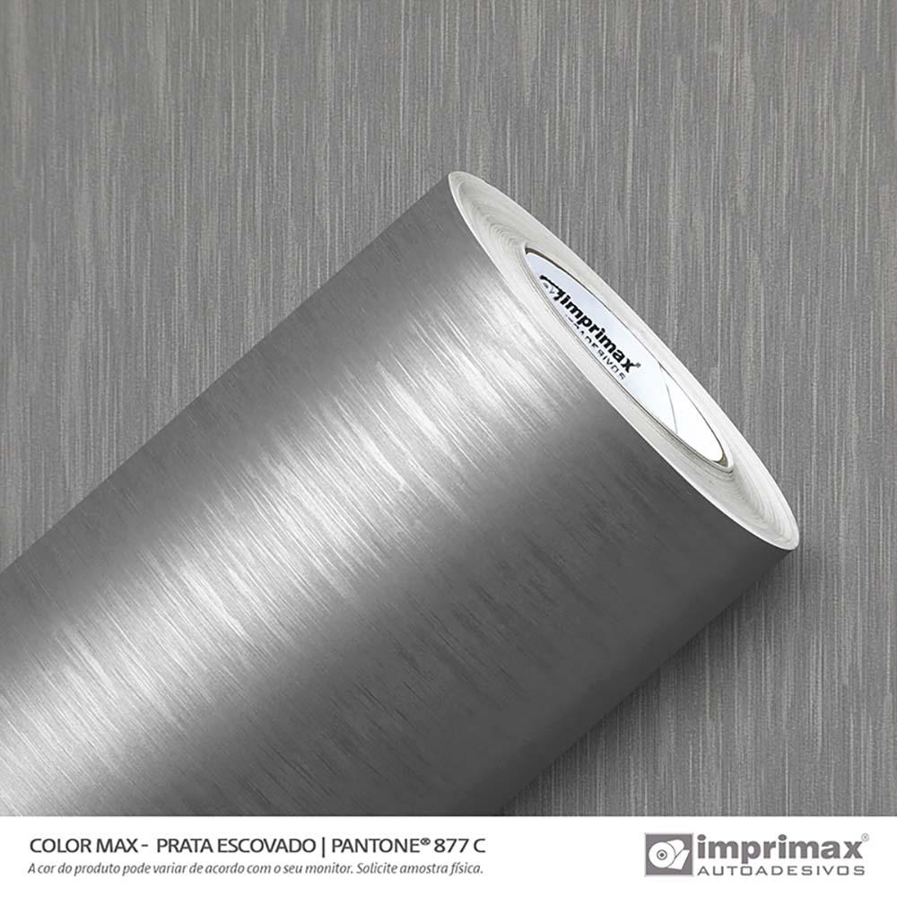Vinil Auto Adesivo Color Max Prata Escovado 1,22x50m