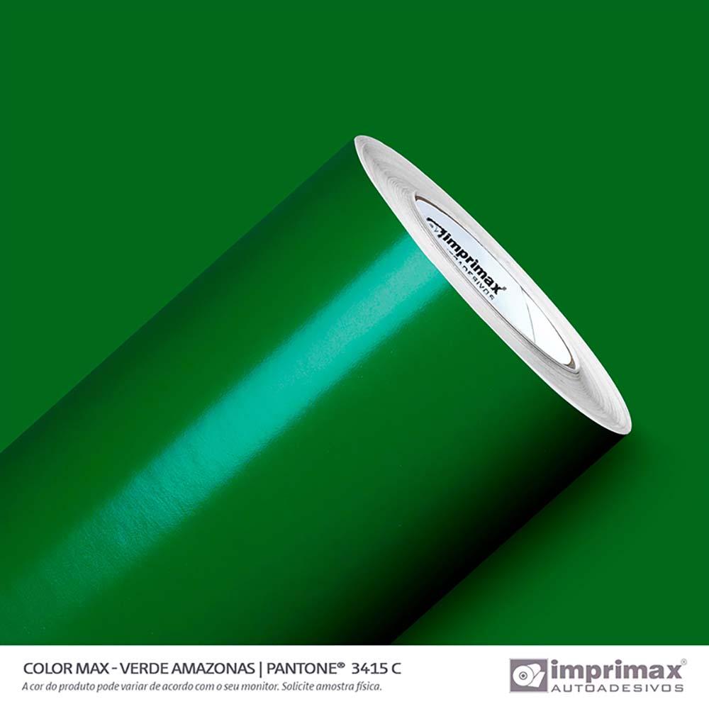Vinil Auto Adesivo Color Max Verde Amazonas Brilho 1,22x50m