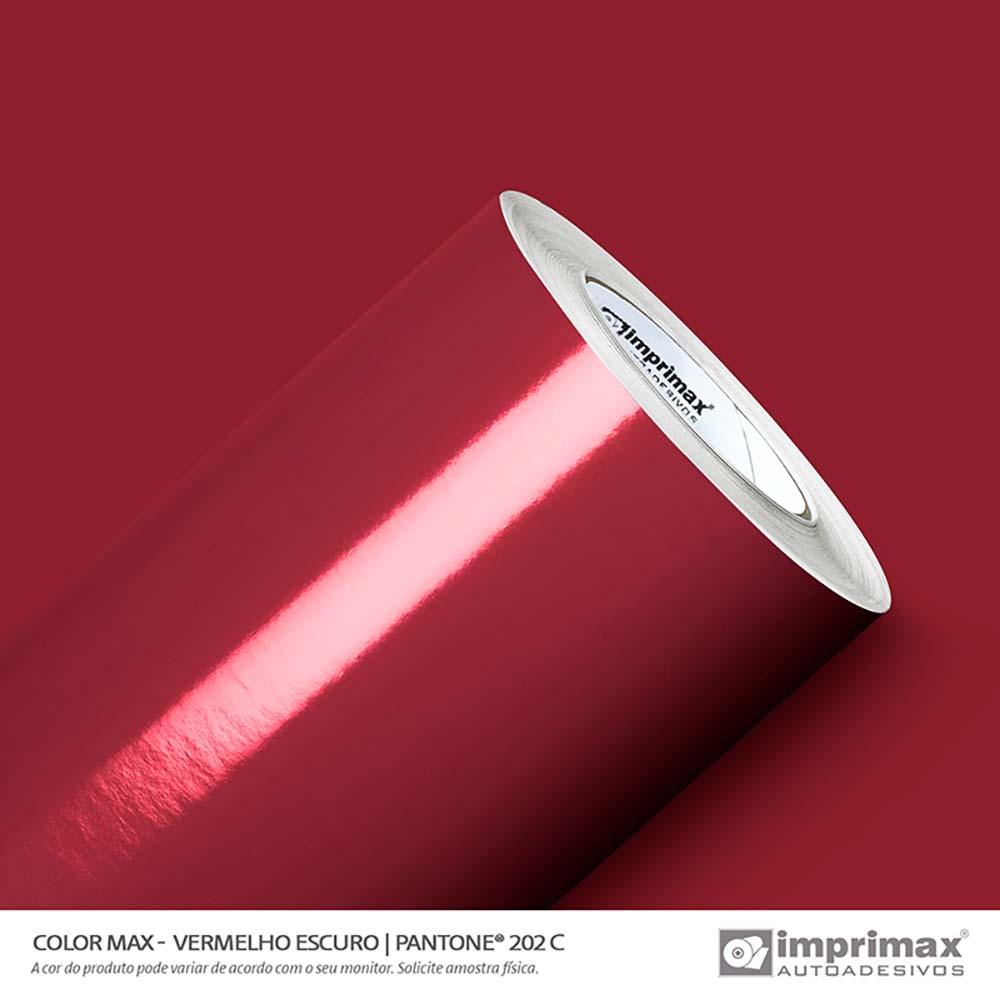 Vinil Auto Adesivo Color Max Vermelho Escuro Brilho 1,22x50m