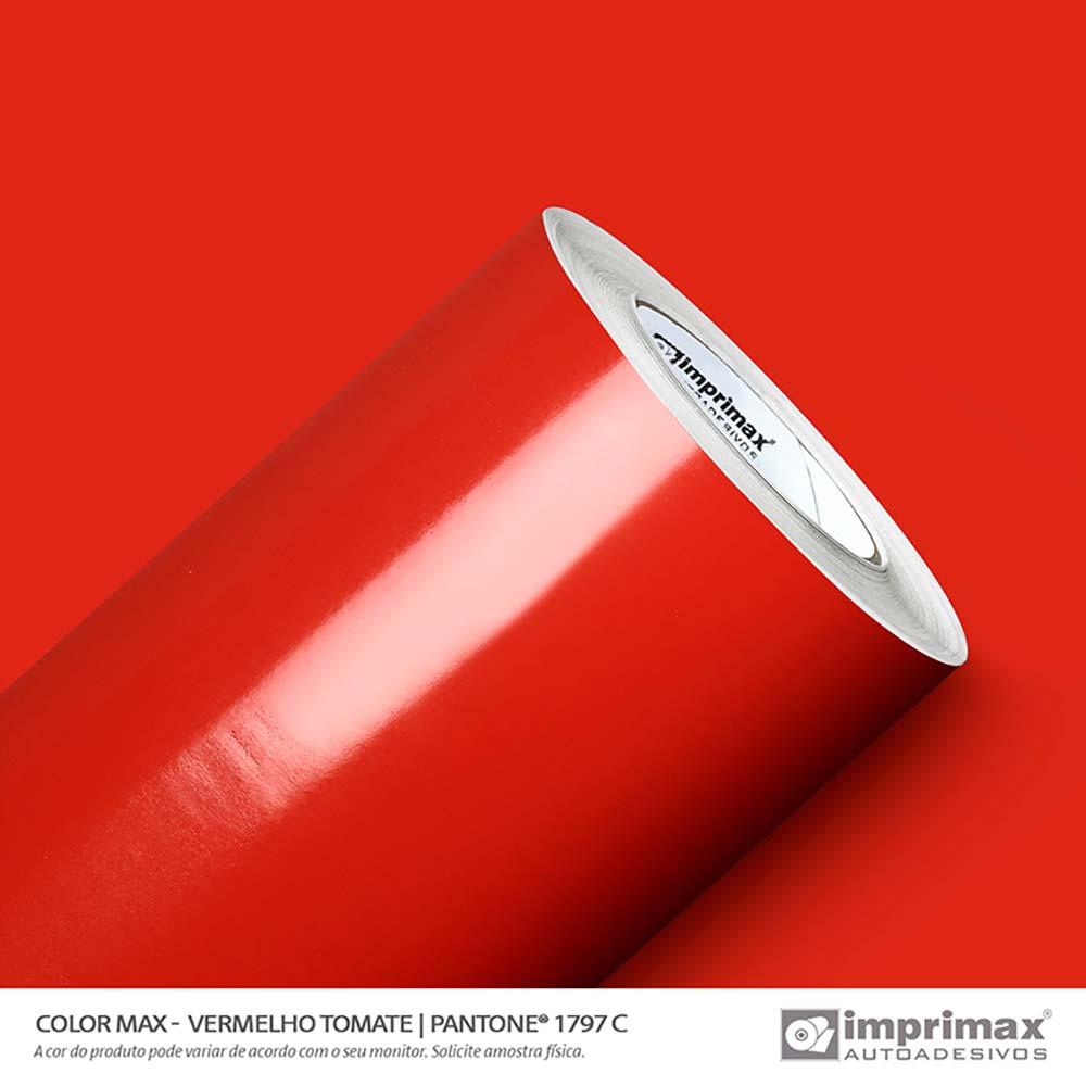 Vinil Auto Adesivo Color Max Vermelho Tomate Brilho 1,22x50m