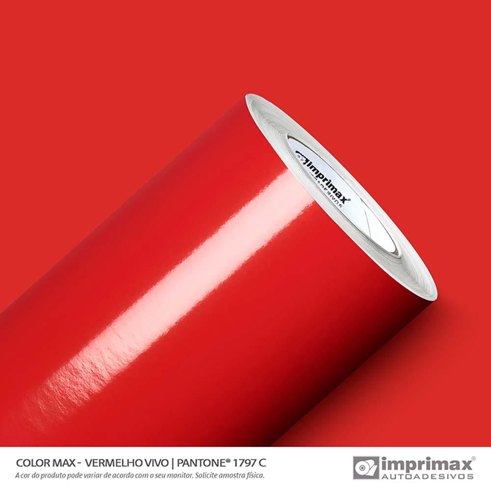 Vinil Auto Adesivo Color Max Vermelho Vivo Brilho 1,22x50m
