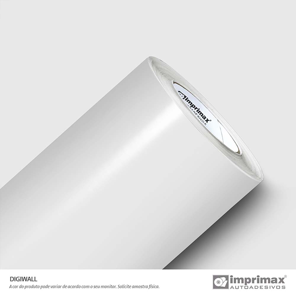Vinil Auto Adesivo Digimax Stop Light 0,10 Branco Brilho 1,80x50m
