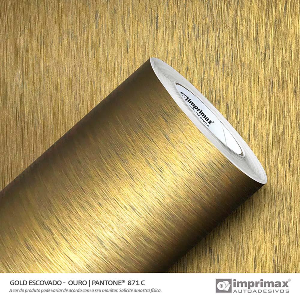 Vinil Auto Adesivo Gold Escovado Ouro 1,22x50m