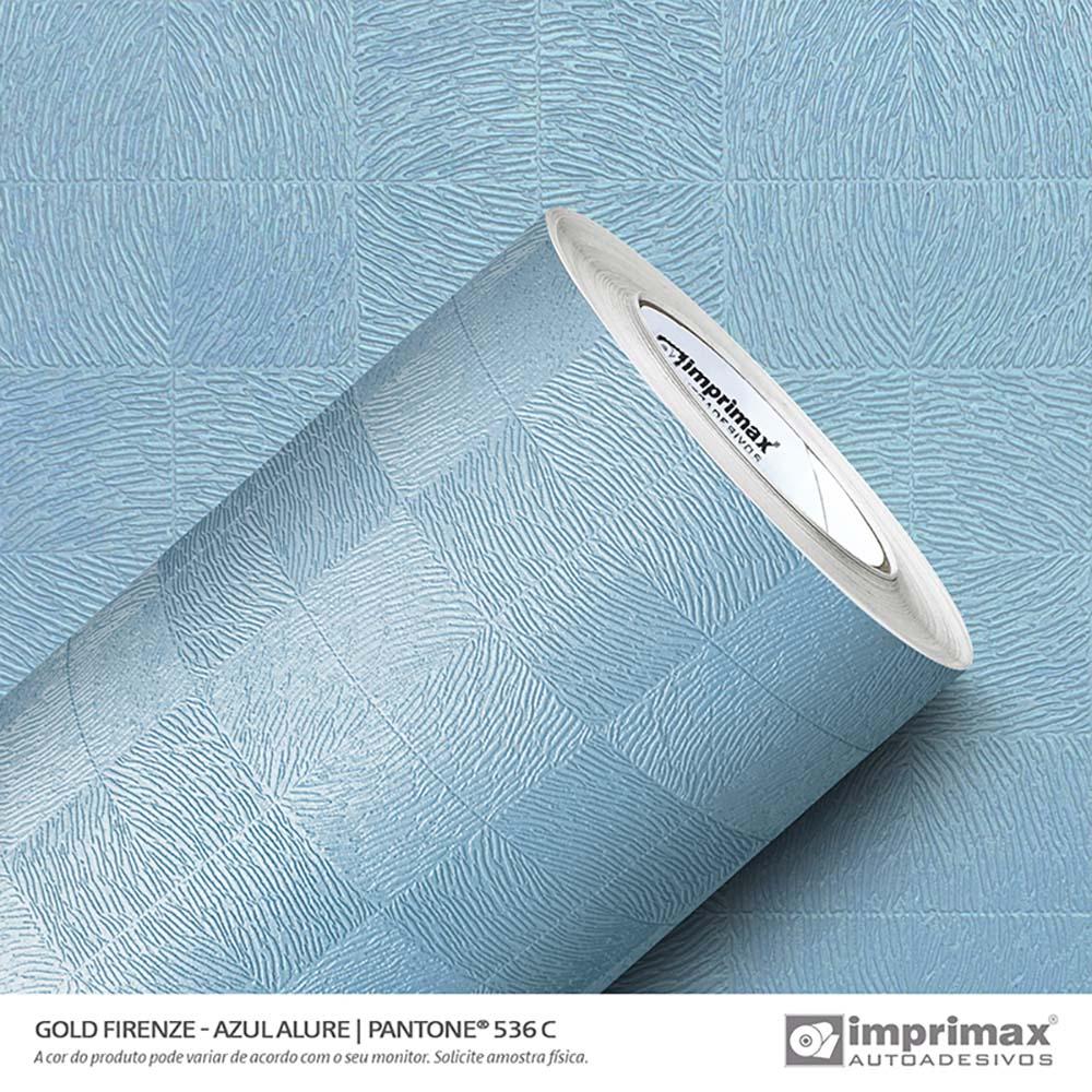 Vinil Auto Adesivo Gold Firenze Azul Allure 1,22x25m