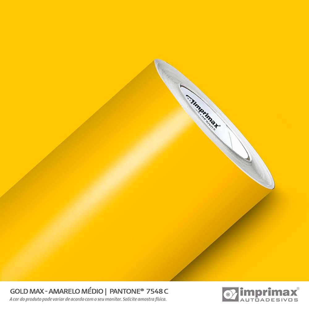 Vinil Auto Adesivo Gold Max Amarelo Médio Brilho 1,22x50m