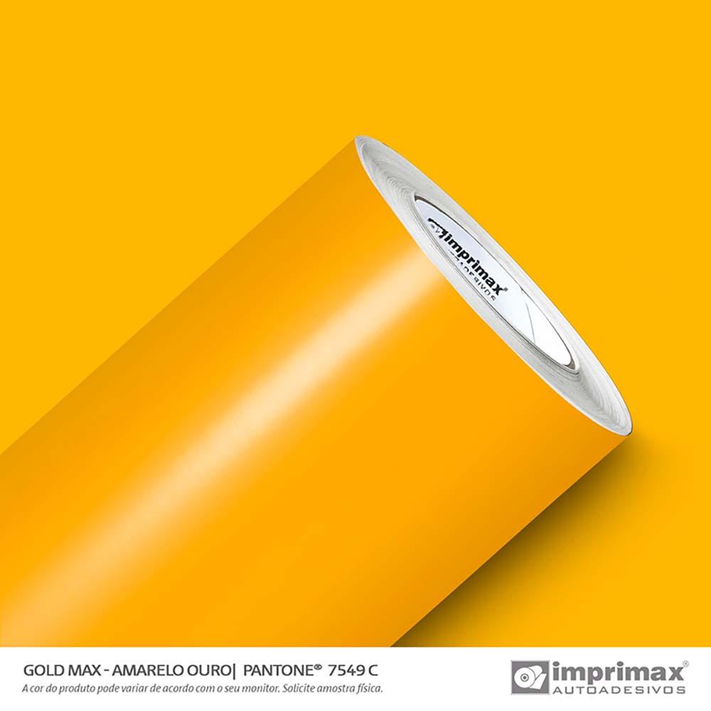 Vinil Auto Adesivo Gold Max Amarelo Ouro Brilho 1,22x50m