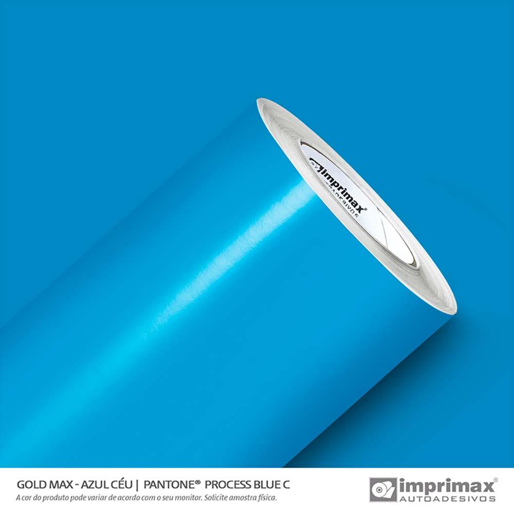 Vinil Auto Adesivo Gold Max Azul Céu Brilho 1,22x50m
