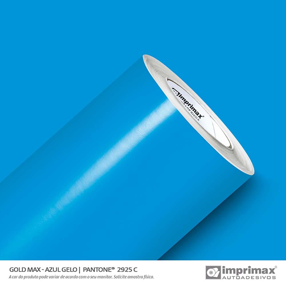 Vinil Auto Adesivo Gold Max Azul Gelo Brilho 1,22x50m