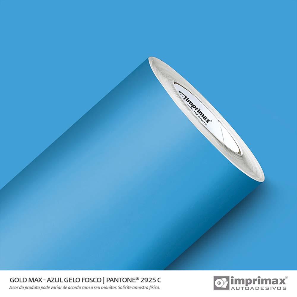 Vinil Auto Adesivo Gold Max Azul Gelo Fosco 1,22x50m