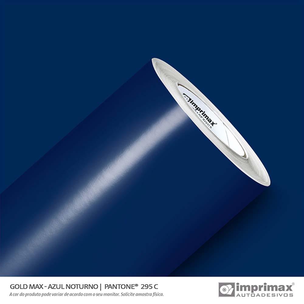 Vinil Auto Adesivo Gold Max Azul Noturno Brilho 1,22x50m