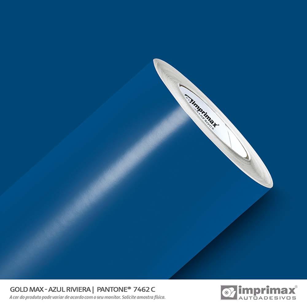 Vinil Auto Adesivo Gold Max Azul Riviera Brilho 1,22x50m