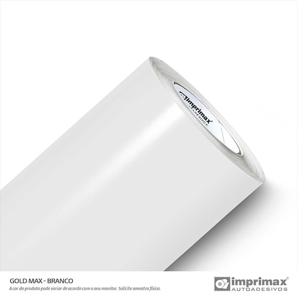 Vinil Auto Adesivo Gold Max Branco Brilho 1,22x50m