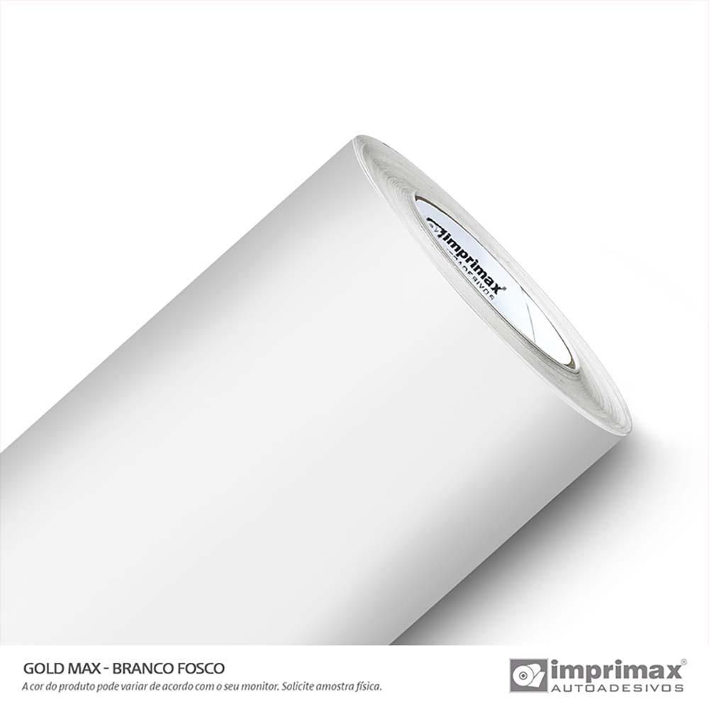 Vinil Auto Adesivo Gold Max Branco Fosco 1,22x50m