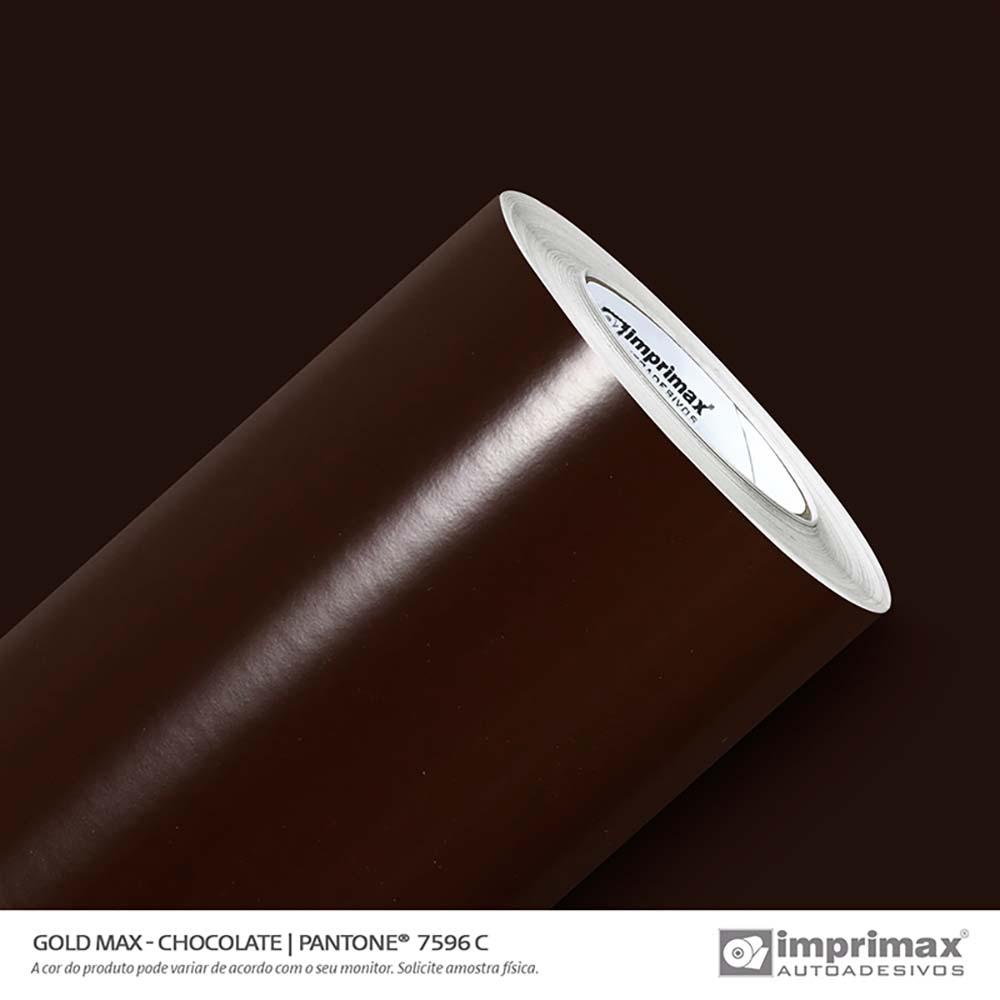 Vinil Auto Adesivo Gold Max Chocolate Brilho 1,22x50m