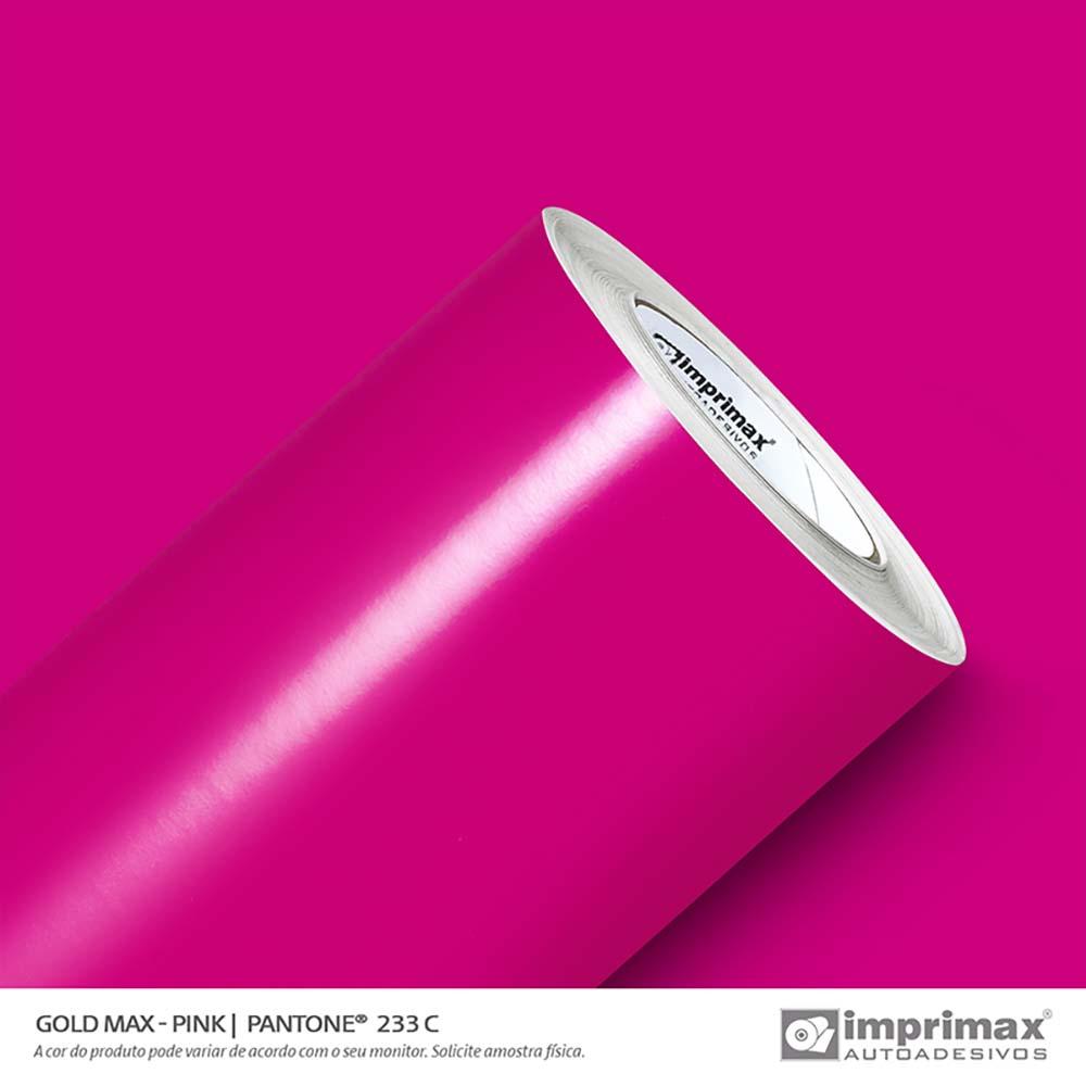 Vinil Auto Adesivo Gold Max Pink Brilho 1,22x50m