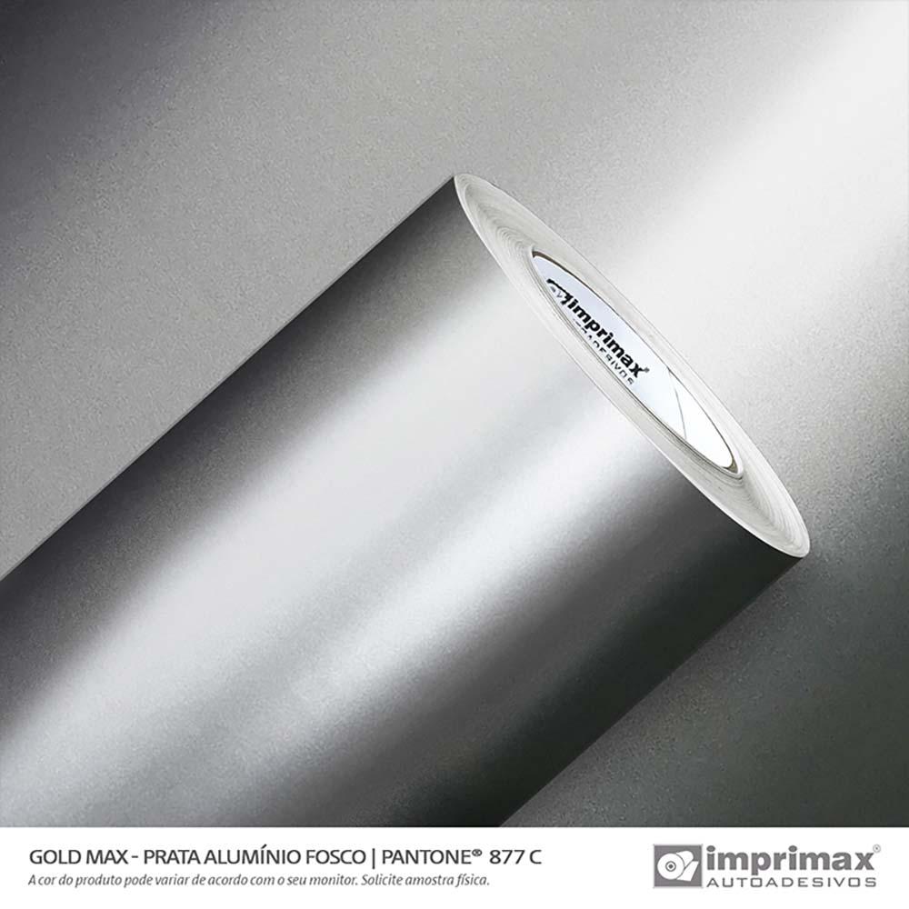 Vinil Auto Adesivo Gold Max Prata Alumínio Fosco 1,22x50m