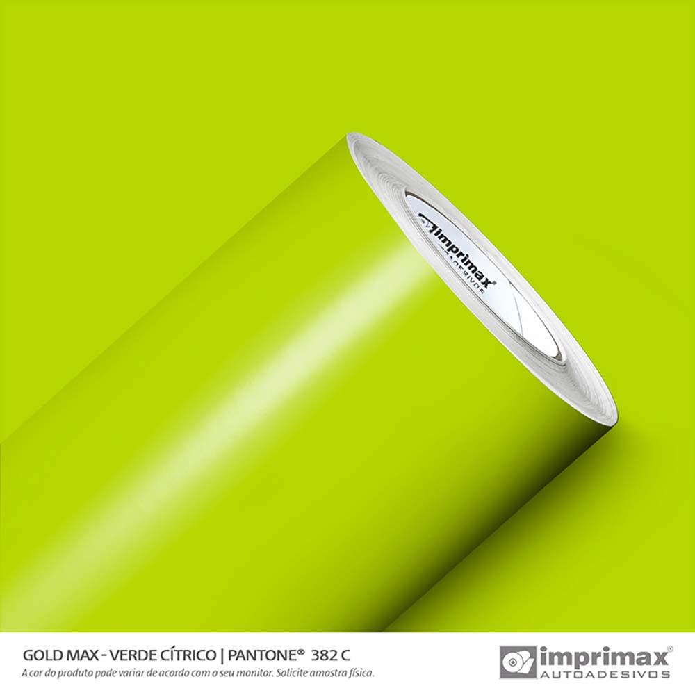 Vinil Auto Adesivo Gold Max Verde Cítrico Brilho 1,22x50m