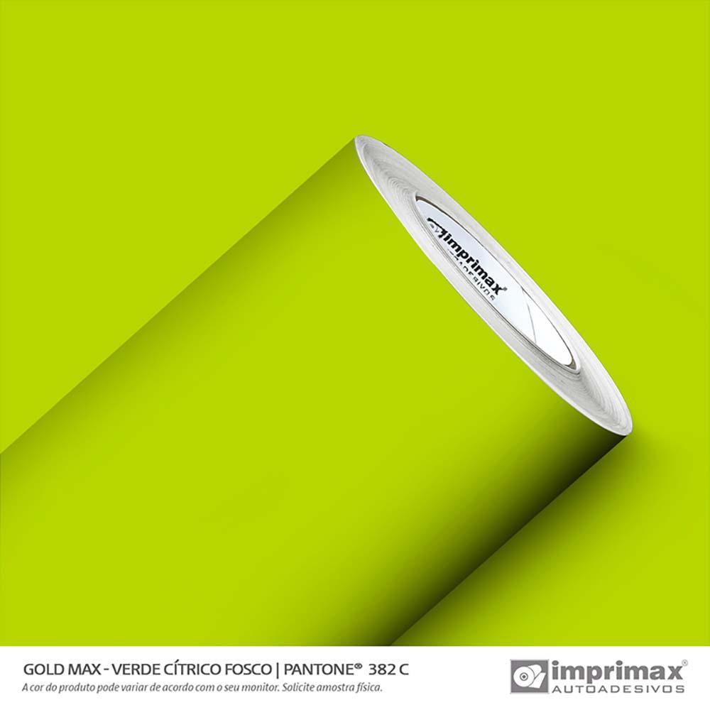 Vinil Auto Adesivo Gold Max Verde Cítrico Fosco 1,22x50m