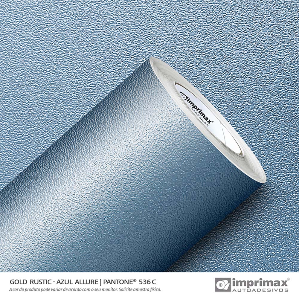 Vinil Auto Adesivo Gold Rustic Azul Allure 1,22x25m