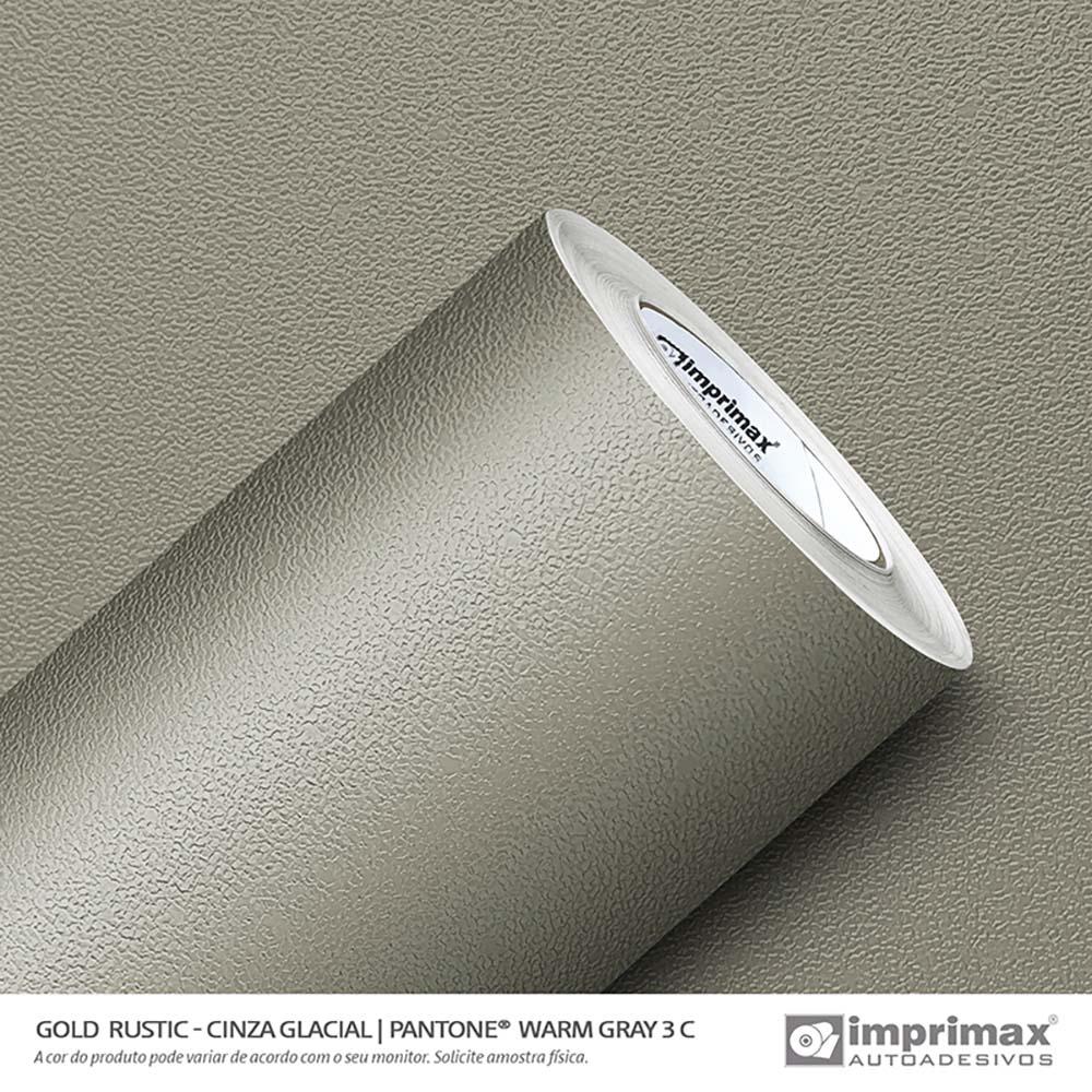 Vinil Auto Adesivo Gold Rustic Cinza Glacial 1,22x25m