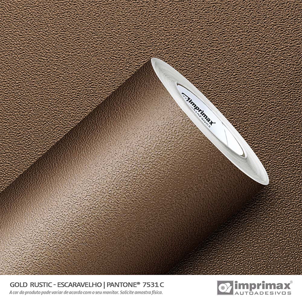 Vinil Auto Adesivo Gold Rustic Escaravelho 1,22x25m