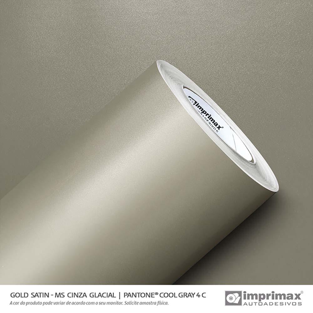 Vinil Auto Adesivo Gold  Satin Ms Cinza Glacial 1,22X25m