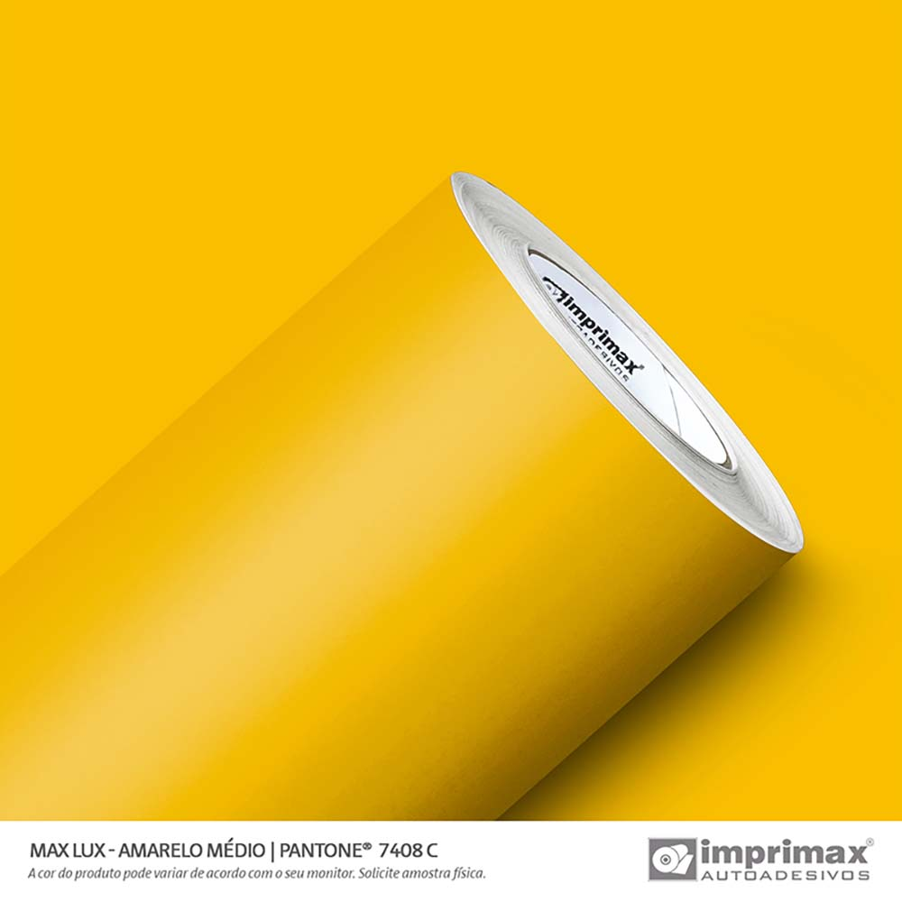 Vinil Auto Adesivo Max Lux Amarelo Médio 1,22x50m