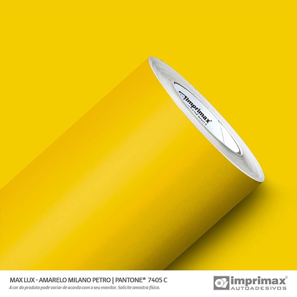 Vinil Auto Adesivo Max Lux Amarelo Milano Petro 1,22x50m