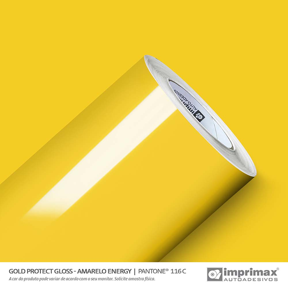 Vinil Auto Adesivo Protect Gloss Amarelo Energy 1,40x25m