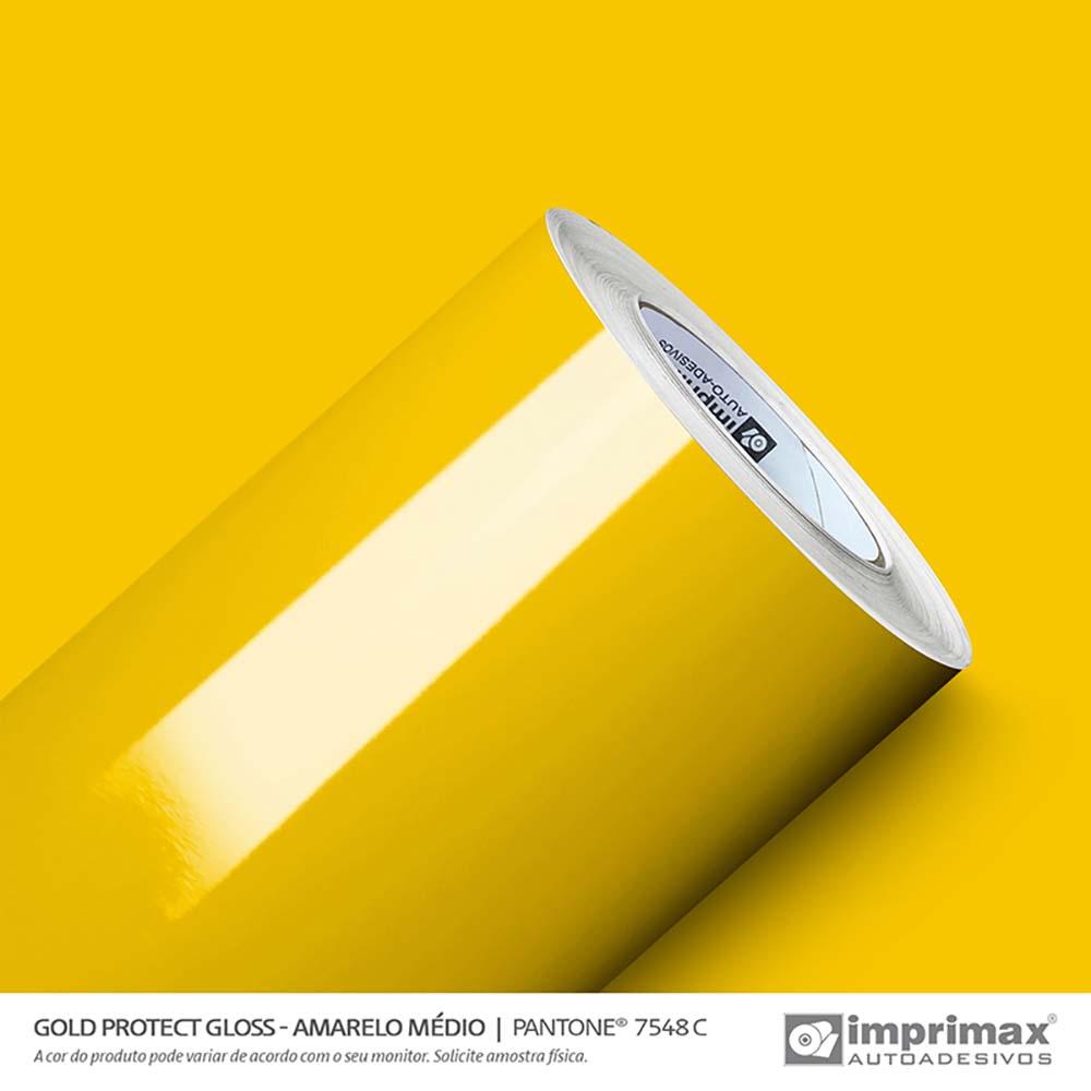 Vinil Auto Adesivo Protect Gloss Amarelo Médio 1,40x25m