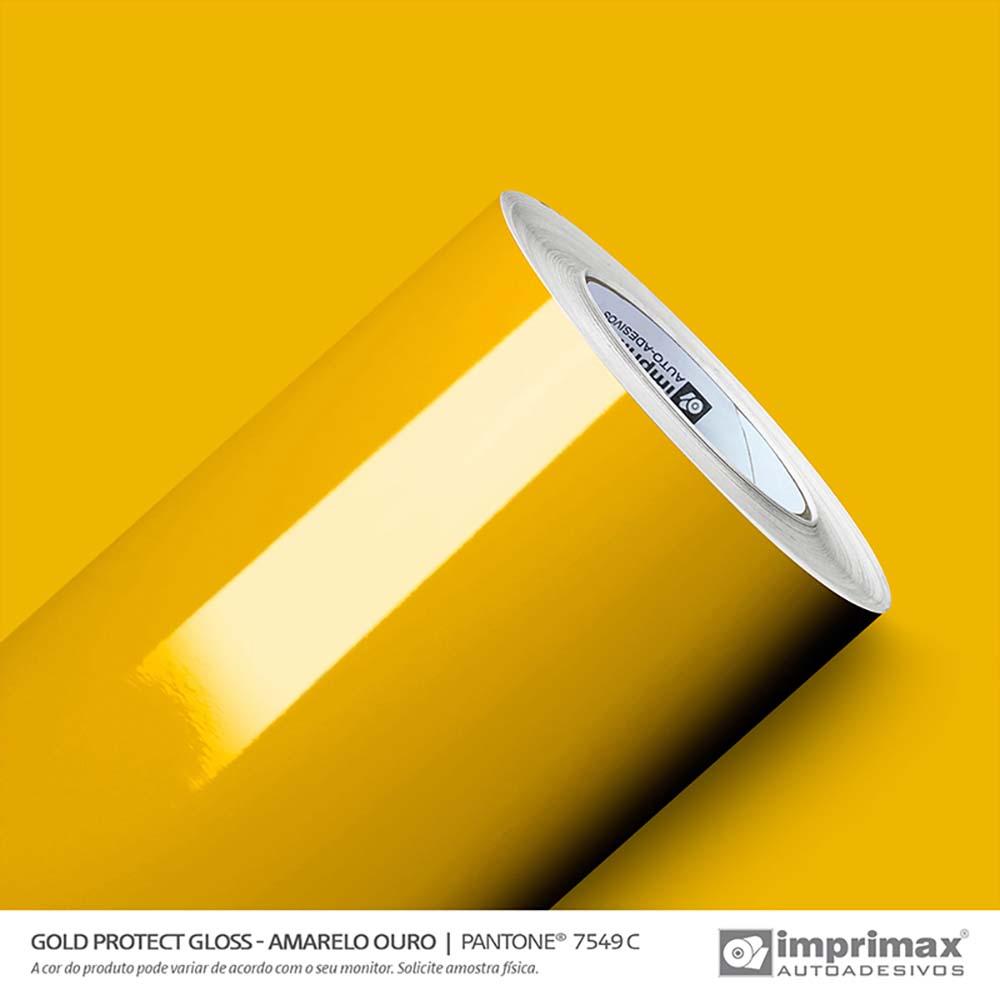 Vinil Auto Adesivo Protect Gloss Amarelo Ouro 1,40x25m