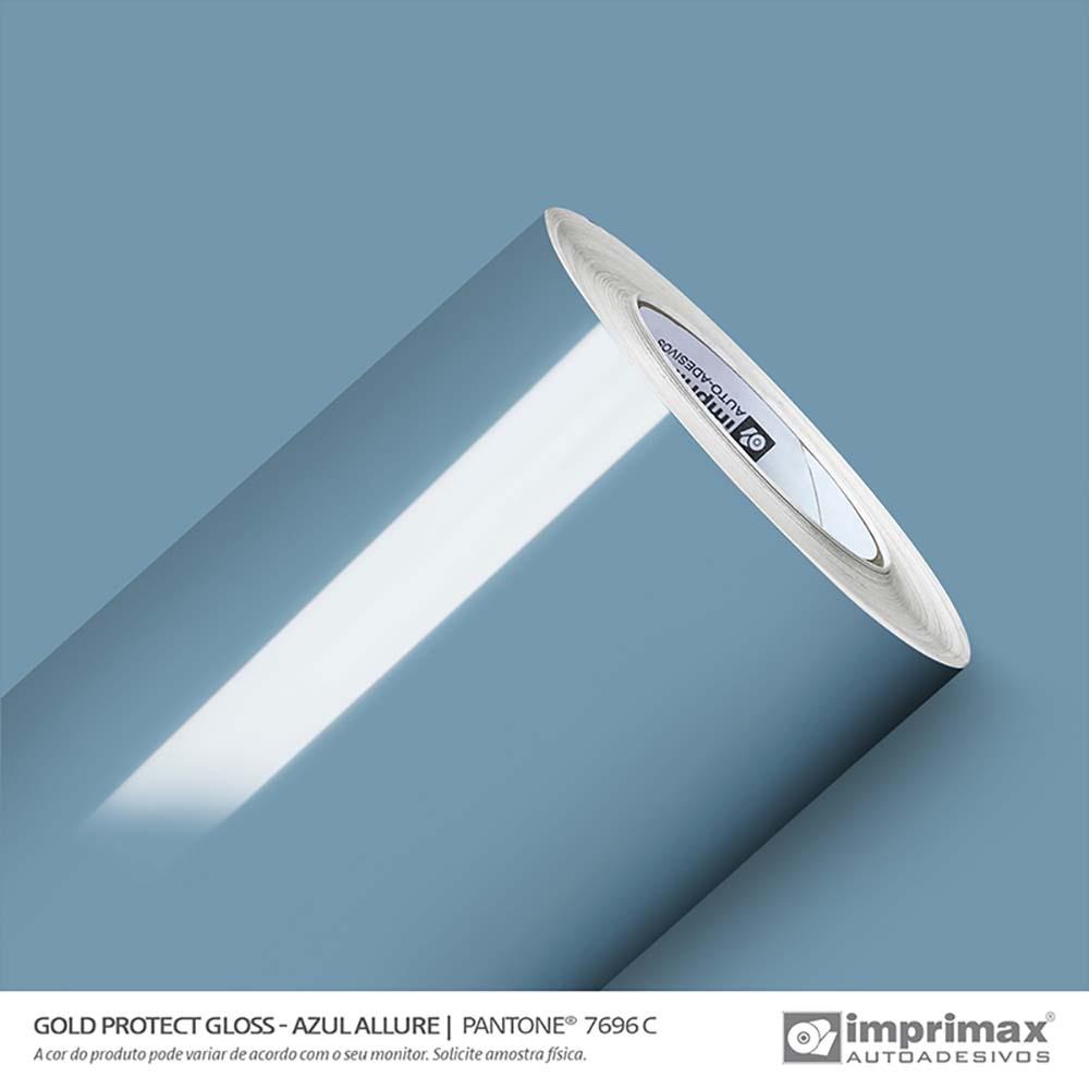 Vinil Auto Adesivo Protect Gloss Azul Allure 1,40x25m