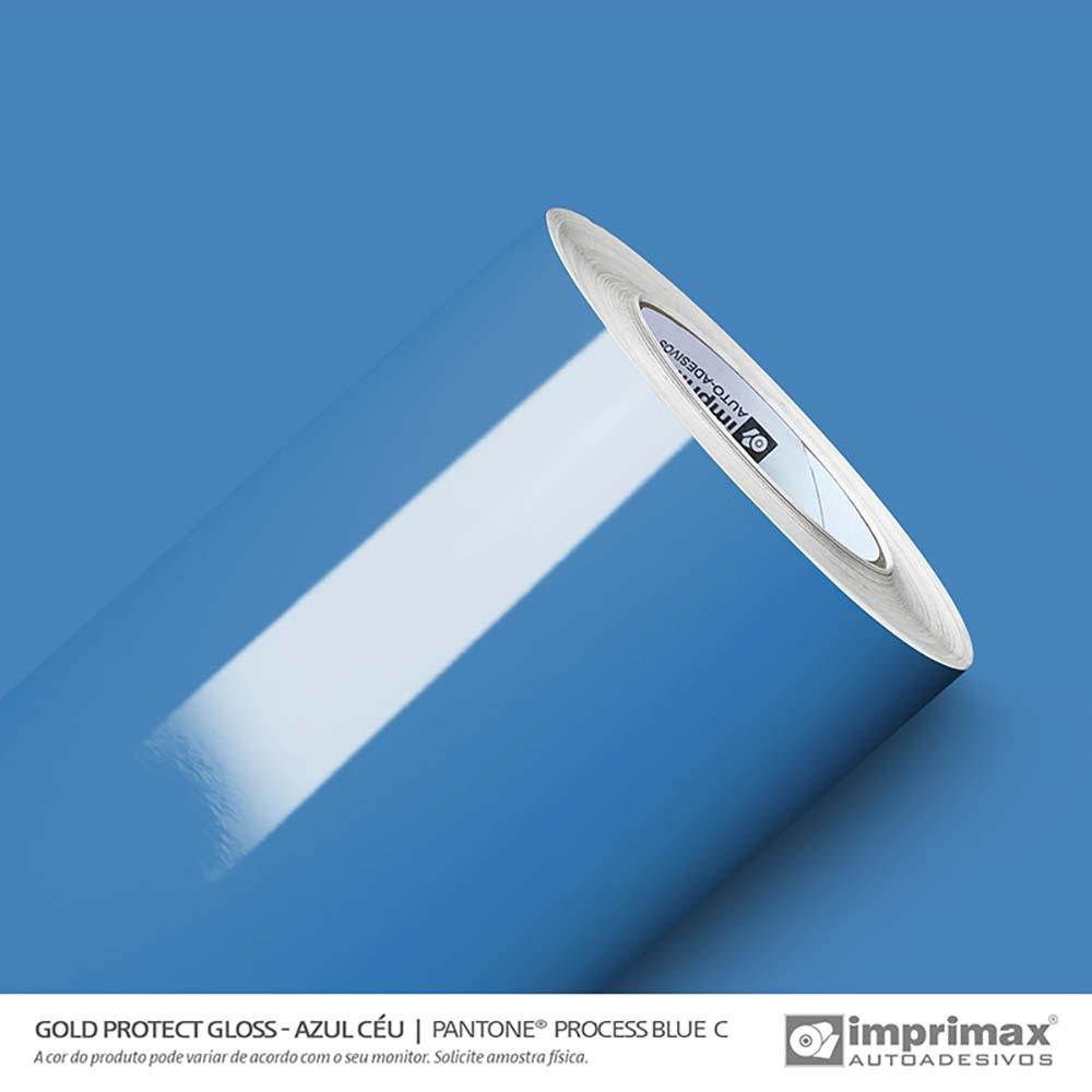Vinil Auto Adesivo Protect Gloss Azul Céu 1,40x25m