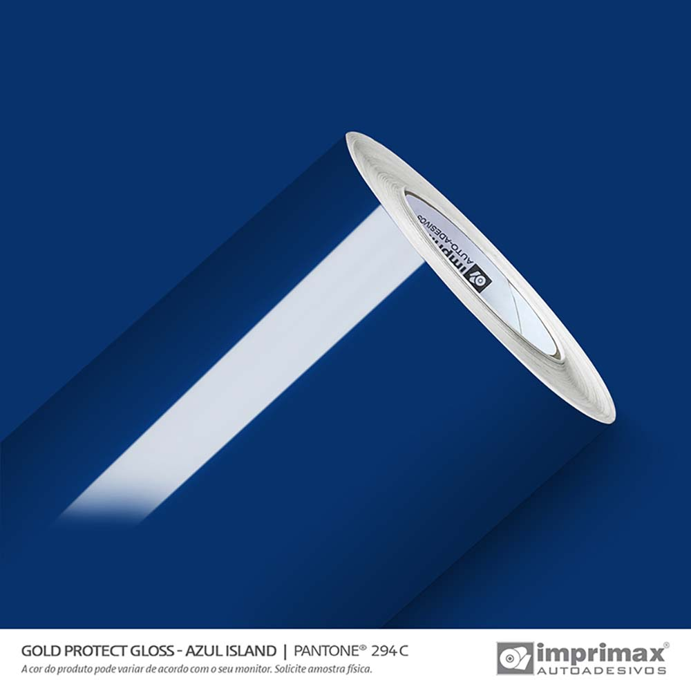 Vinil Auto Adesivo Protect Gloss Azul Island 1,40x25m