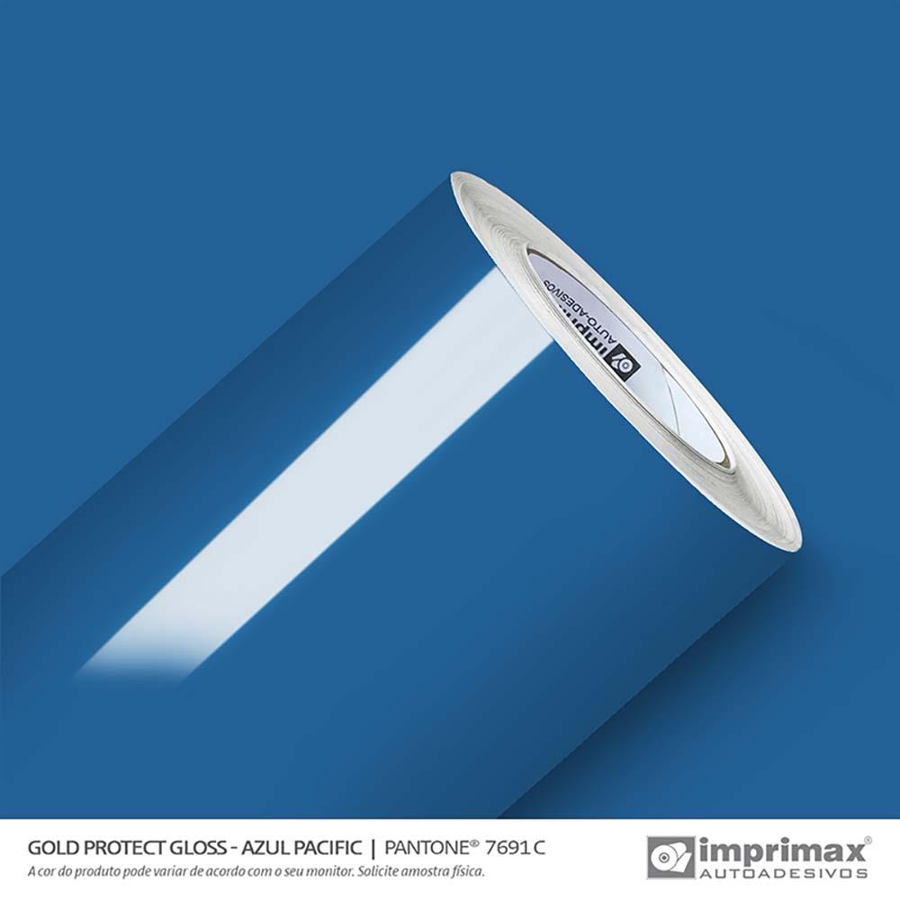 Vinil Auto Adesivo Protect Gloss Azul Pacific 1,40x25m