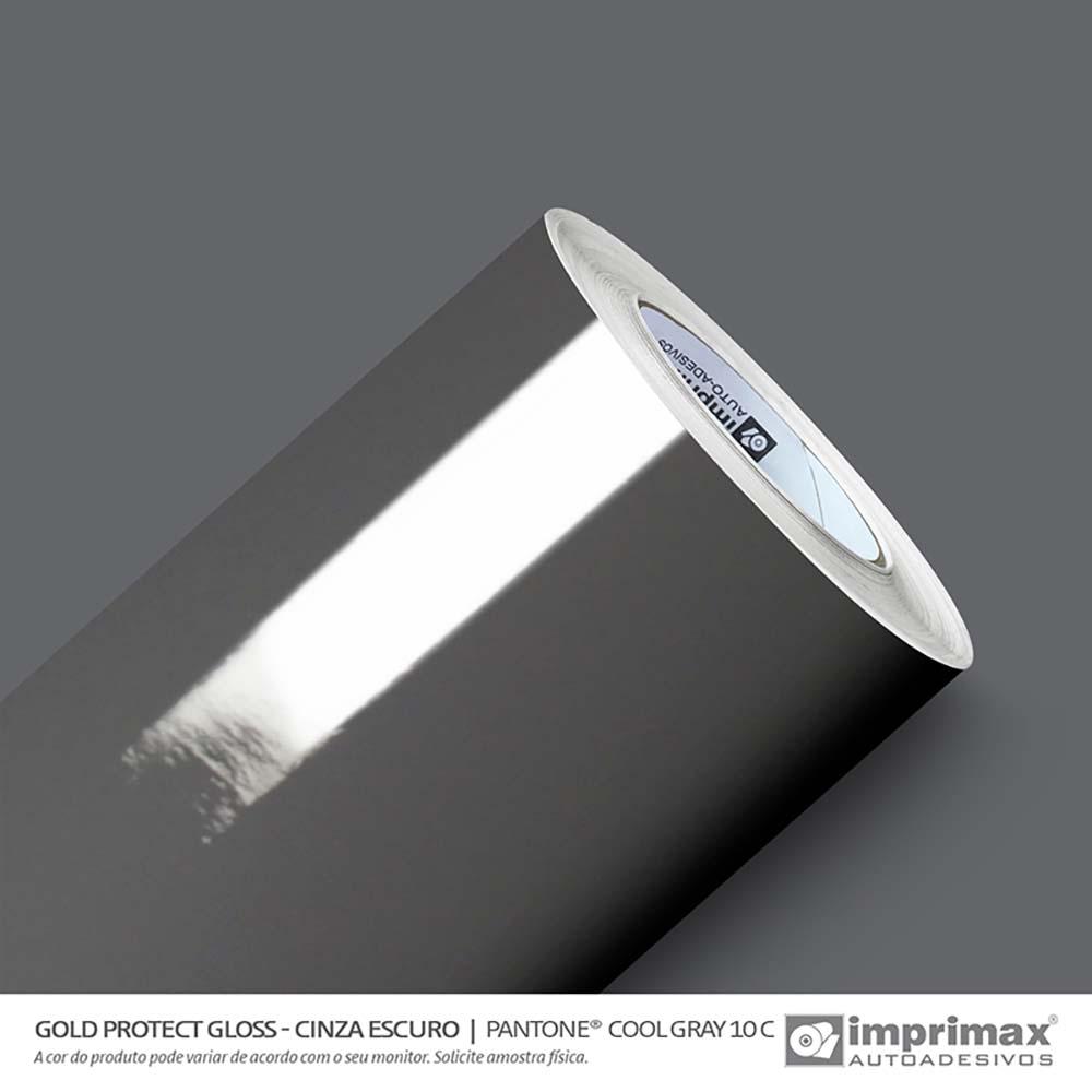 Vinil Auto Adesivo Protect Gloss Cinza Escuro 1,40x25m