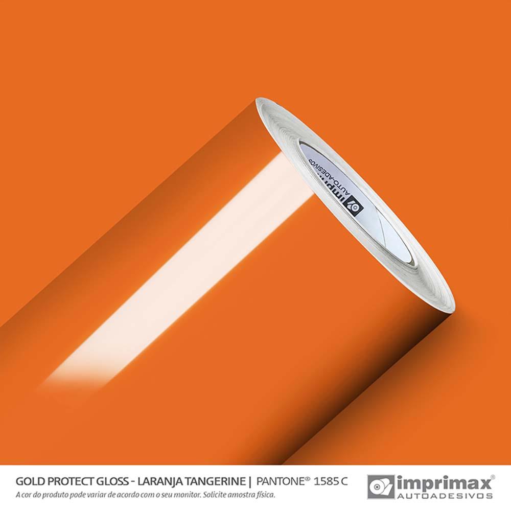 Vinil Auto Adesivo Protect Gloss Laranja Tangerine 1,40x25m
