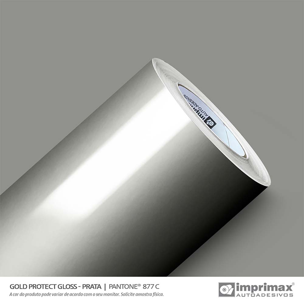 Vinil Auto Adesivo Protect Gloss Prata 1,22x50m
