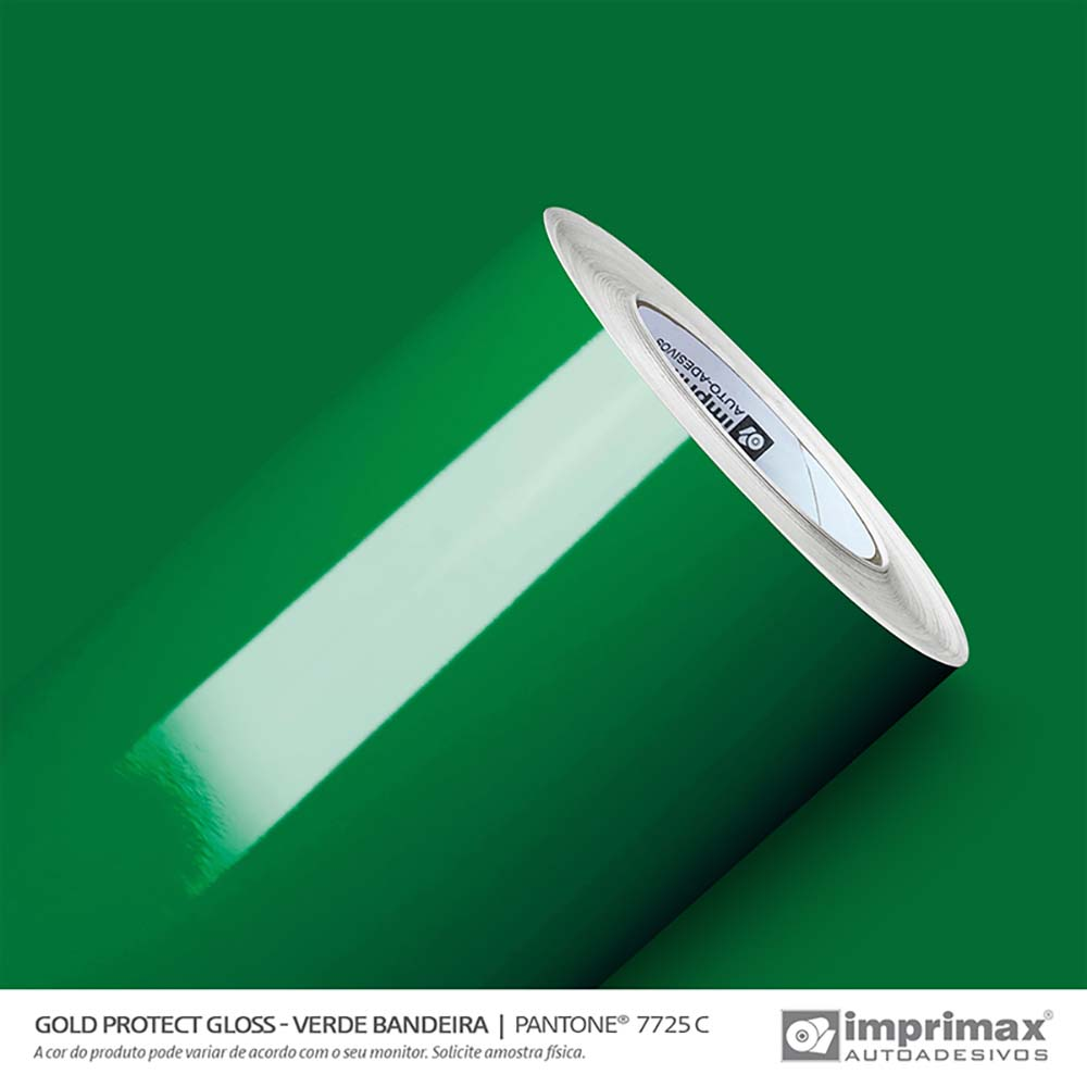 Vinil Auto Adesivo Protect Gloss Verde Bandeira 1,40x25m
