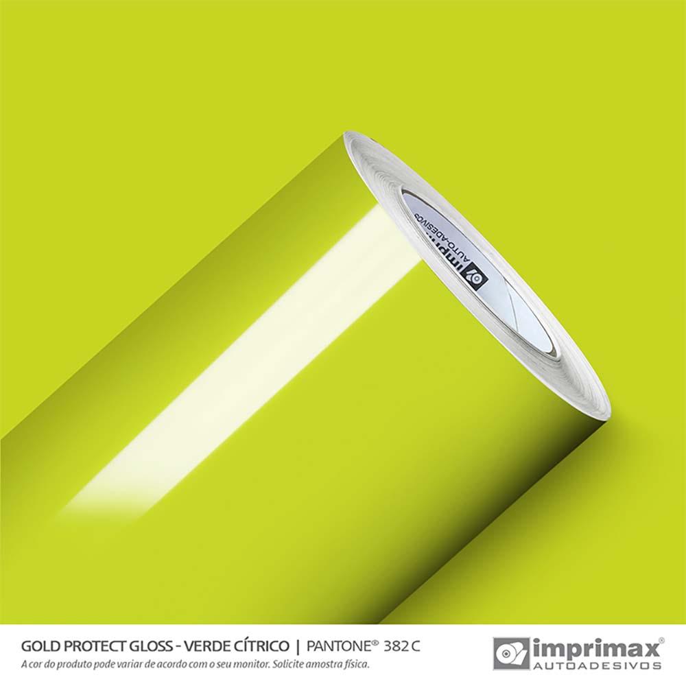 Vinil Auto Adesivo Protect Gloss Verde Cítrico 1,40x25m