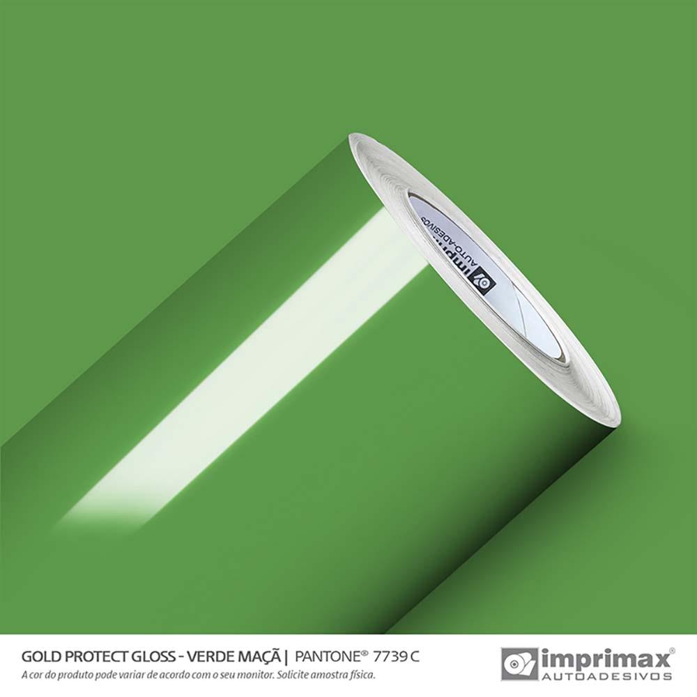 Vinil Auto Adesivo Protect Gloss Verde Maça 1,40x25m